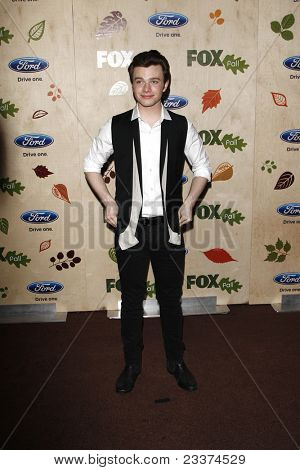 LOS ANGELES - SEP 12: Chris Colfer at the Fox Fall Eco Casino Party at The Bookbindery on September 12, 2011 in Culver City, Los Angeles, CA