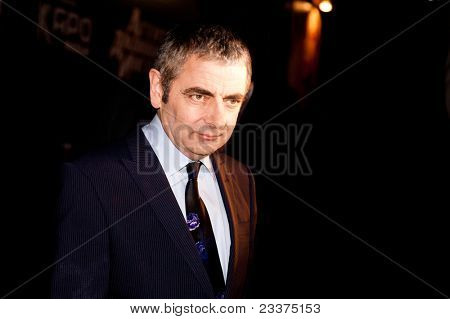 MOSCOW - SEPTEMBER 12: Actor Rowan Atkinson at the premiere of the movie