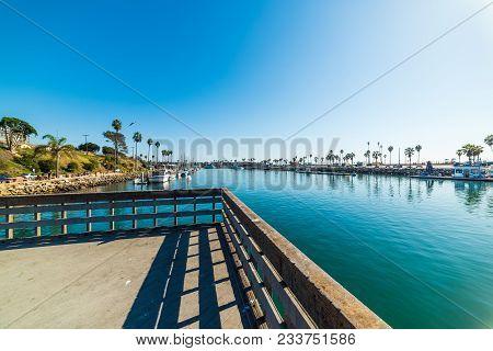 A Clear Sky Over Oceanside Harbor, Usa