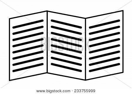 Booklet Icon On White Background. Booklet Sign. Flat Style.