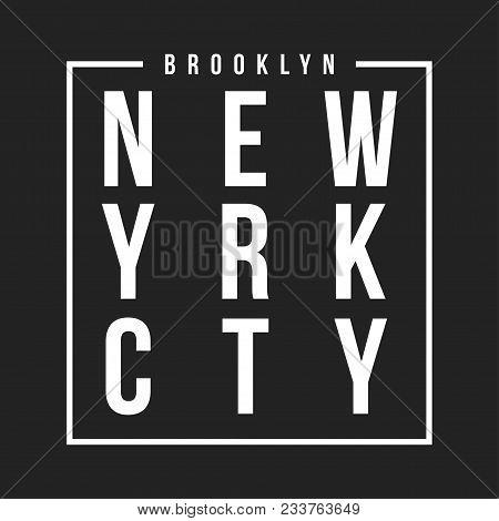 New York, Skateboarding Typography For T-shirt Print. Athletic Badge For T-shirt Design. Vector