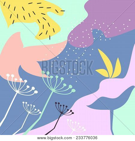 Collage With Creative Universal Background. Abstract Artistic Header Background. Modern Graphic Desi