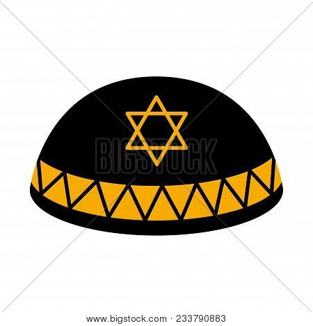 Isolated Jewish Kippah Icon. Vector Illustration Design