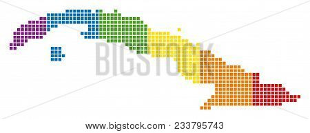 A Dotted Lgbt Cuba Map For Lesbians, Gays, Bisexuals, And Transgenders. Vector Geographic Map In Lgb