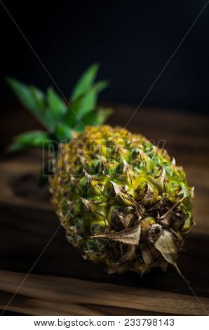 Pineapple Fruit Dramatic Background Stillifes Hd Original