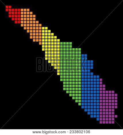 A Dotted Lgbt Pride Sumatra Island Map For Lesbians, Gays, Bisexuals, And Transgenders. Spectrum Vec