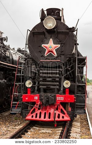 Rostov-on-don, Russia - September 1, 2011: Lv-0333 Soviet Steam Locomotive In Railway Transport Muse