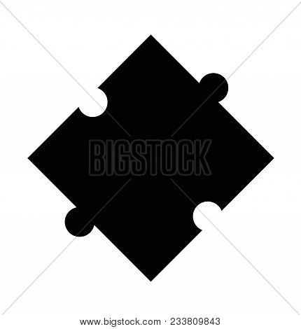 Puzzle Icon On White Background. Puzzle Sign. Flat Style. Logo Puzzle Symbol.