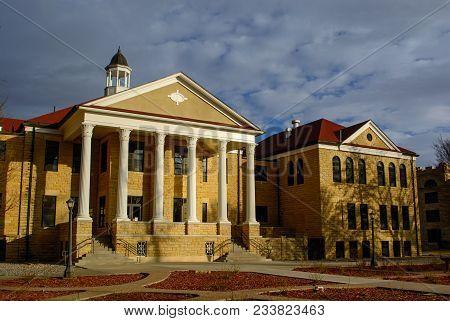Fort Hays State University Picken Hall Administration Building In Hays, Kansas