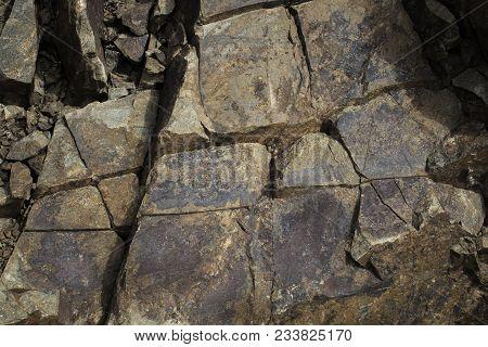 Stone background. Stone texture. Brown stone background. Rocky style. Stone. Old Stone. Grunge rocky.