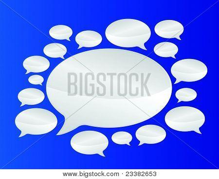 Speech bubbles communication concept illustration