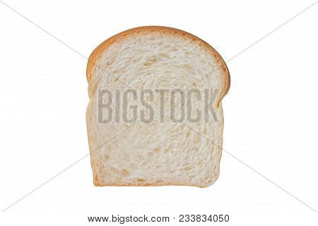Sliced Soft And Sticky Delicious White Bread For Breakfast. White Braed On White Isolated Background