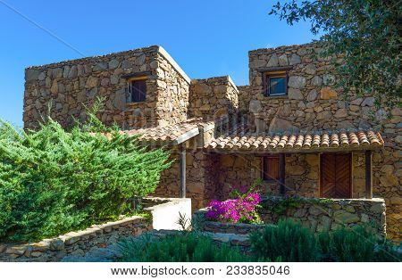 Italy, Sardinia, The Typical Houses Of Capo Coda Cavallo