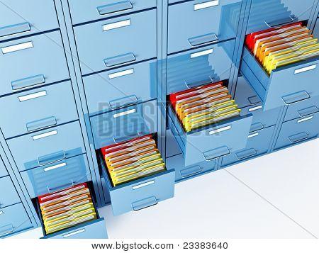 imagen 3d fina de carpeta archivador