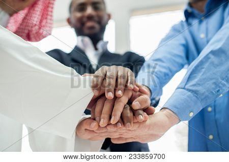 Arabic muslim business people