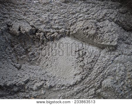 Texture Of Ready Mixed Concrete Cement Mortar For Building Floor House.