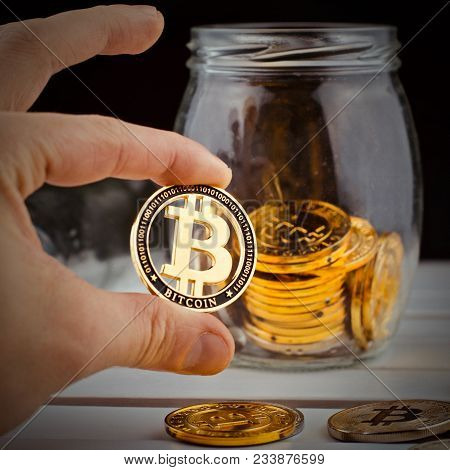 Bitcoin Savings Concept