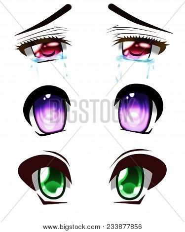 Anime Eyes Of The Beatiful Colors, Anime Style.