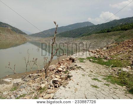 Bad Condition Of Tehri Dam Land In Summer