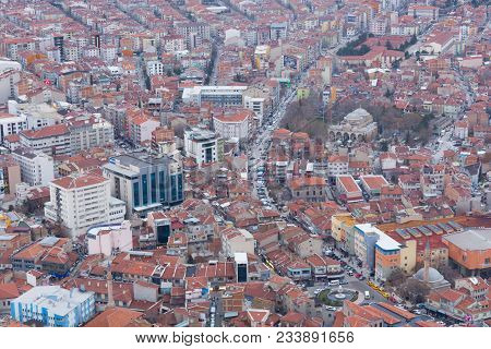 City Skyline, City Panorama. Urban Buildings And City Center. Aerial View Of The City. View Of The C