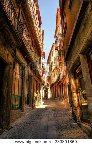 Old Street In Downtown Of Porto, Portugal