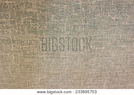 Texture Pattern Of Hessian Cloth Background. Simple Burlap Fabric And Sack Sacking Country Light Bro