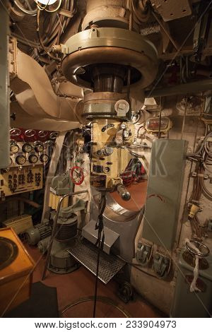 Periscope On Main Command Post Submarine Inside