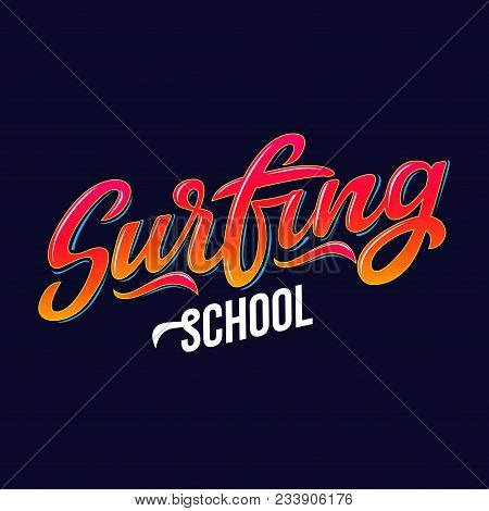 Surfingl Text For Logotype, Wear, Sports Camp, Trip, Banner, Surf Station, Water Extreme Sports Comp