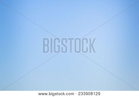 Blue Sky Empty Bokeh Background Pattern. Simple Natural Template Of Sky With No Clouds. Backdrop Of
