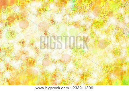 Yellow Blurry And Star Shape Abstract Background. Digitally Generated Image.