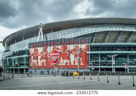 Arsenal Emirates Stadium, London, United Kingdom - September 21, 2016 : A Close Up View Of The Arsen