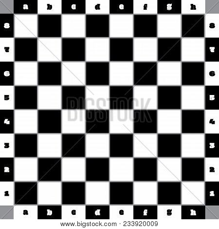 Chess Table Classic With Gray Bordered Squares And With Numbering And Lettering Competition Ready So