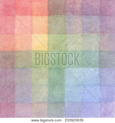 The Palette Of Colors. Imposition Of Color On Color. Background. Vector Colored Squares. Pictorial A
