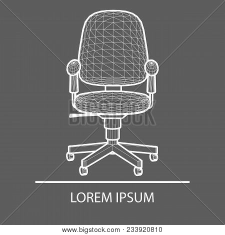 Chair Office Linear Design. Logo Office Chair. The Emblem Of An Office Chair. Company S Logo. Office