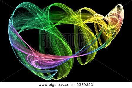 Colourful Smokey Swirling Object