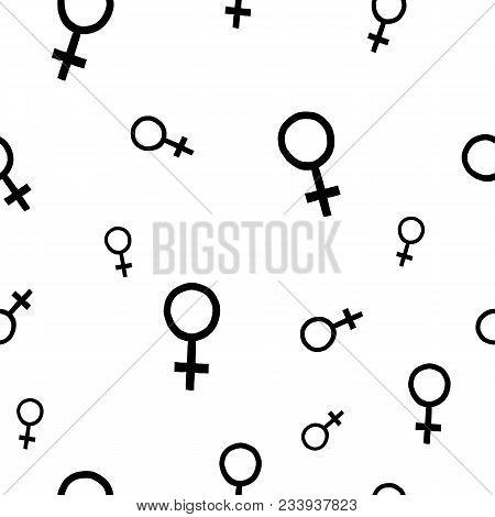 Girl Woman Power Venus Fist Feminist Seamless Pattern Inspiration Graphic Design Typography Textile