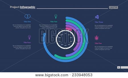Circle Chart With Percentage Slide Template. Business Data. Graph, Diagram, Design. Creative Concept