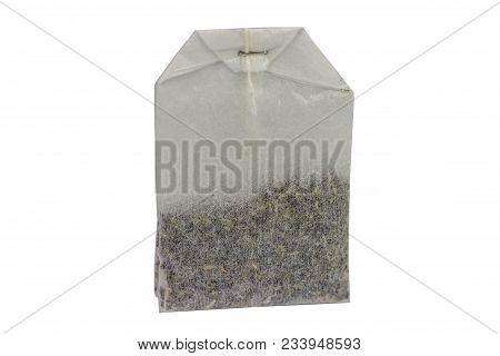Classic Teabag Macro Isolated On White Background