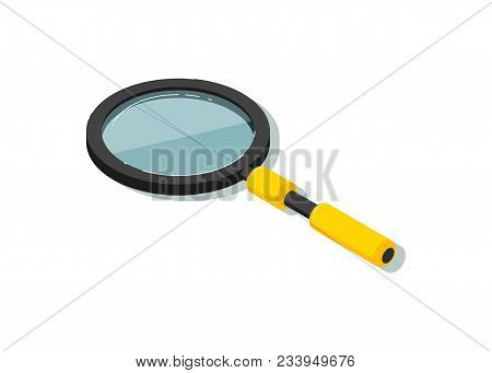 Magnifying Glass Illustration Isolated On White Background. Search Concept, Magnifier Icon.