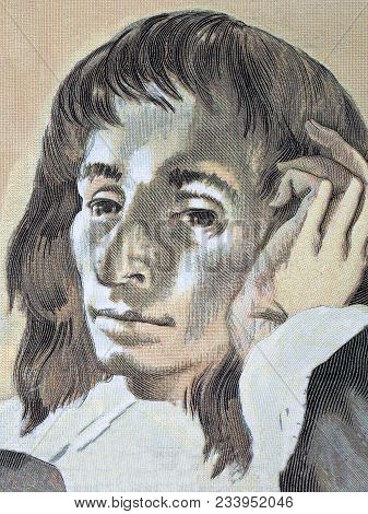 Blaise Pascal Portrait From French Money - Francs