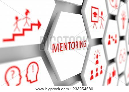 Mentoring Concept Cell Blurred Background 3d Illustration