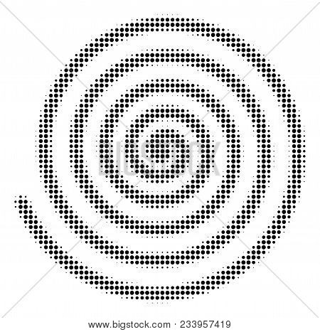 Hypnosis Halftone Vector Icon. Illustration Style Is Dotted Iconic Hypnosis Symbol On A White Backgr
