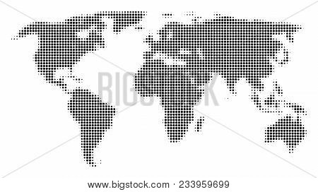 World map halftone vector photo free trial bigstock world map halftone vector pictogram illustration style is dotted iconic world map symbol on a gumiabroncs Image collections