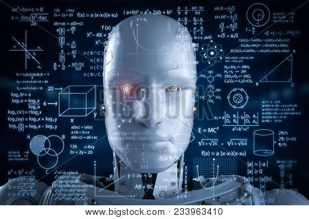 Robot With Education Hud