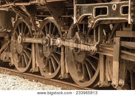 Steam Train Closeup Exhausts