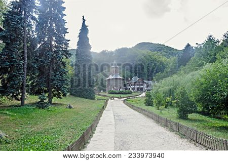 Prislop Monastery From Hunedoara County, Romania And Arsenie Boca Grave