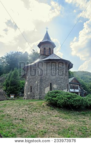 Prislop Monastery From Hunedoara County, Romania And Arsenie Boca Grave.
