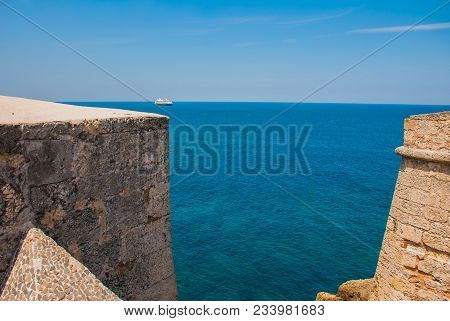 View Of The Bay From The Fortress Castillo Del Morro. The Old Fortress. Cuba. Havana