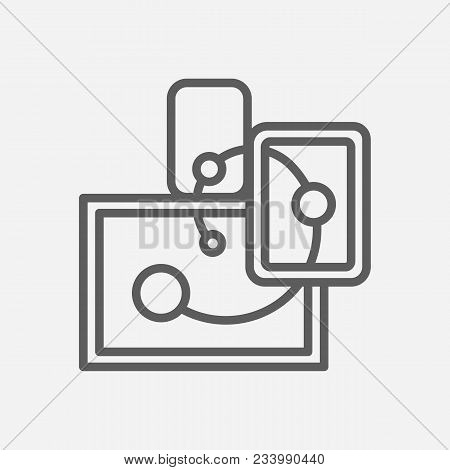 Responsive Design Icon Line Symbol. Isolated  Illustration Of  Icon Sign Concept For Your Web Site M