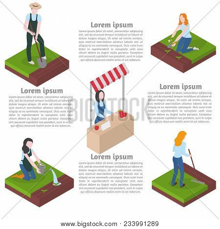 Farming Gardening And Agriculture. Flat Gardener Character. Work And Hobby.